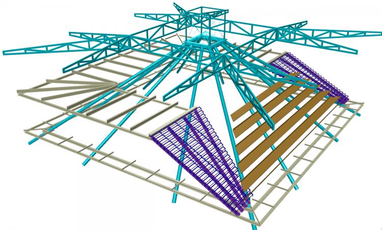 Cramele Rasova – structura acoperis